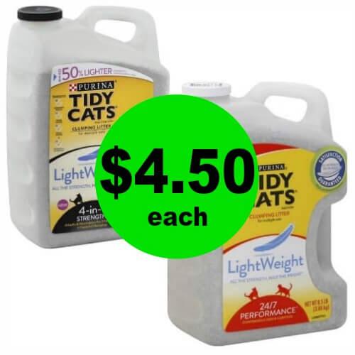 Tidy Cats Cat Litter $4.50 Each (Reg. $13) at Publix! (Ends 4/17 or 4/18)