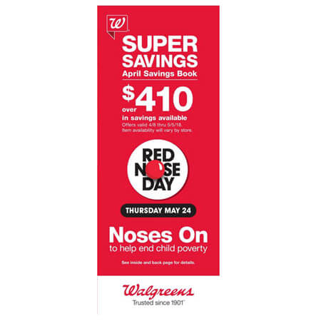 Walgreens April 2018 Coupon Savings Booklet (Valid 4/8 – 5/5/18)