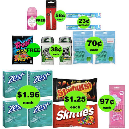 Four FREEbies & Eight Deals 70¢ or Less at Walgreens! (Ends 5/5)