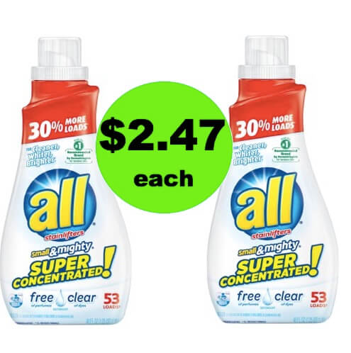 Pick Up $2.47 All Free & Clear Laundry Detergent at Walmart! (Ends 4/28)