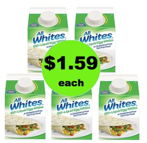 STOCK UP for Breakfast with $1.59 All Whites 100% Egg Whites at Target!