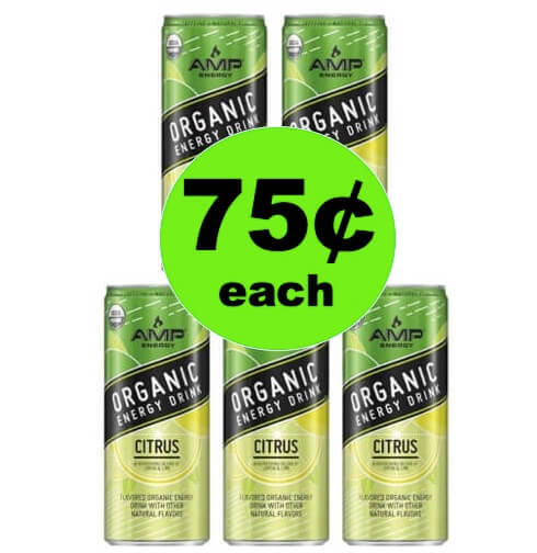 Get Going with 75¢ Amp Organic Energy Drinks at Walmart!