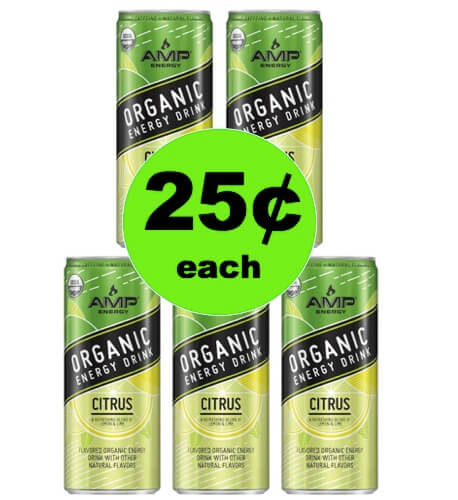 ??⭐️Tell Your BFF: $.25 Organic Amp Energy Drinks At Target! After Rebate