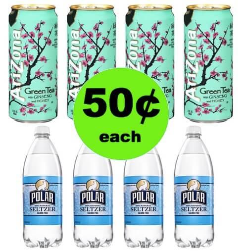SCORE 50¢ Polar Seltzer Water or Arizona Iced Tea at Winn Dixie! (Ends 5/1)