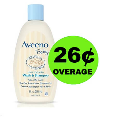 FREE + 26¢ OVERAGE on Aveeno Baby Wash at Walmart! (Ends 4/22)