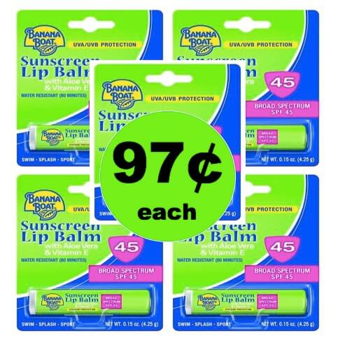 Protect Your Lips with 97¢ Banana Boat Sunscreen Lip Balm at Walmart! (Ends 6/19)