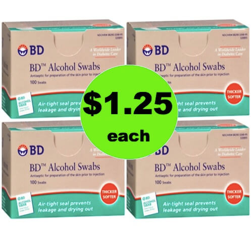 Pick Up BD Alcohol Swabs Only $1.25 per Box at Winn Dixie! (Ends 5/1)