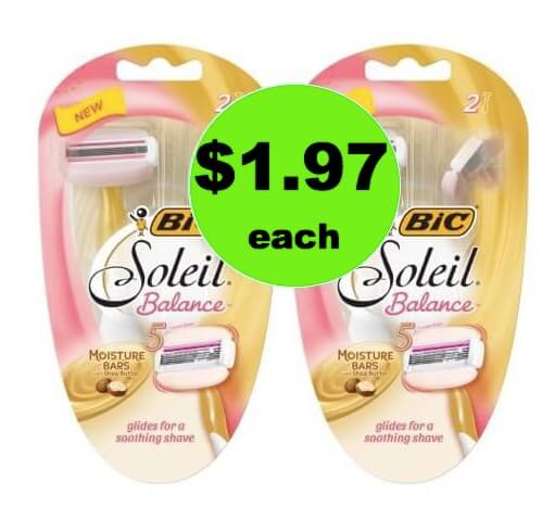 CHEAP SHAVE with $1.97 Bic Soleil Razors at Walmart (at Walgreens too)!