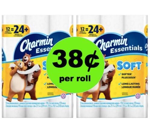 Score Charmin Essentials Bath Tissue Only 38¢ per Roll at Winn Dixie! (Ends 4/17)