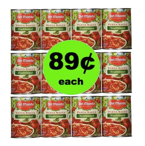 Bring on the Pasta! Pick Up Del Monte Pasta Sauce Only 89¢ Each at Winn Dixie! (Ends 4/24)