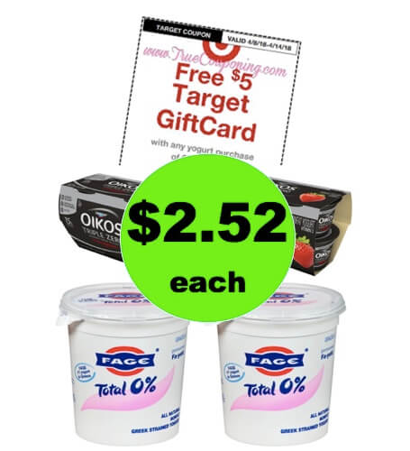 Pick Up $2.52 Oikos & Fage Yogurt at Target! (Ends 4/14)