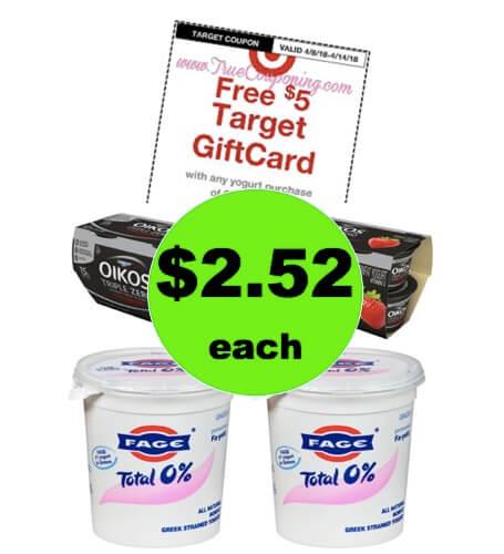 Pick Up $2.52 Oikos & Fage Yogurt at Target! (Ends 4/14)