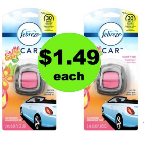 Keep Your Car Smelling Fresh with $1.49 Febreze Car Vent Clips at Walmart!