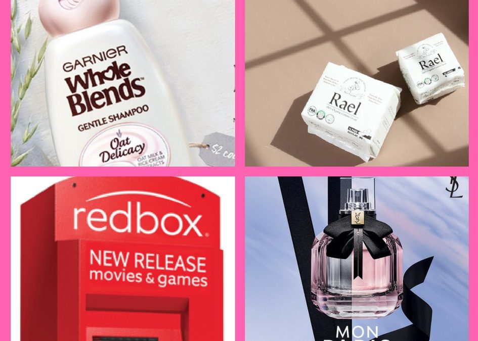 Don't Miss Out on These FOUR (4!) FREEbies: Garnier Hair Care, Rael Feminine Products, Redbox Game Rental and Mon Paris Fragrance!