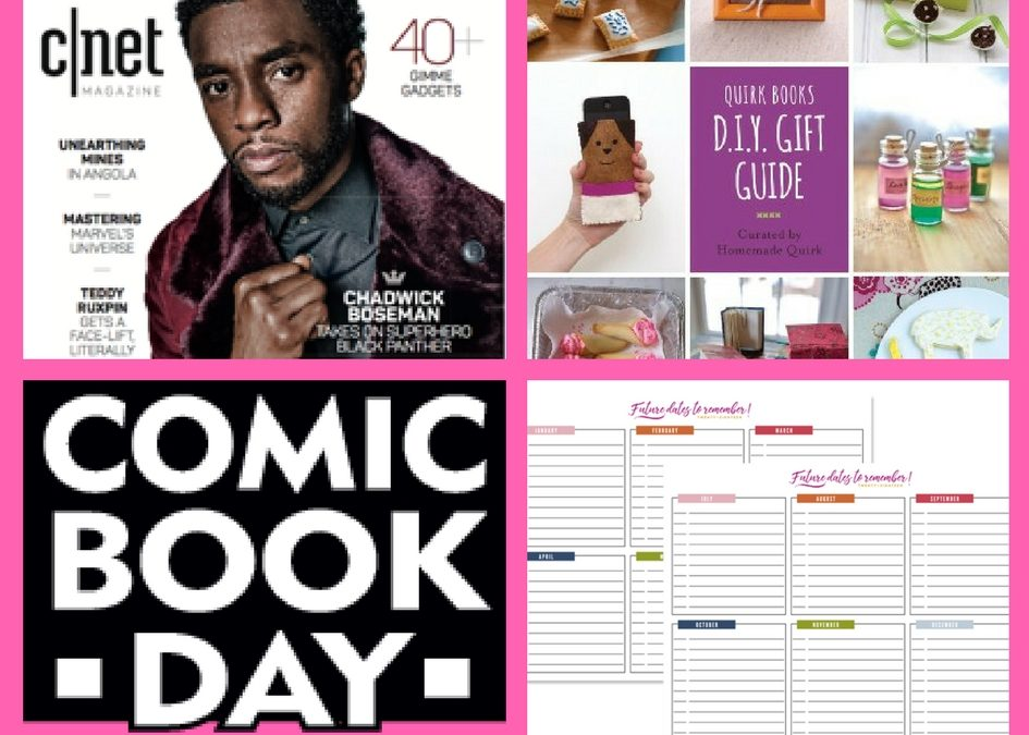 FOUR FREEbies: One Year Subscription to CNet Magazine, DIY Gift Guide eBook, Comic Book on May 5th and Organizational Printables!