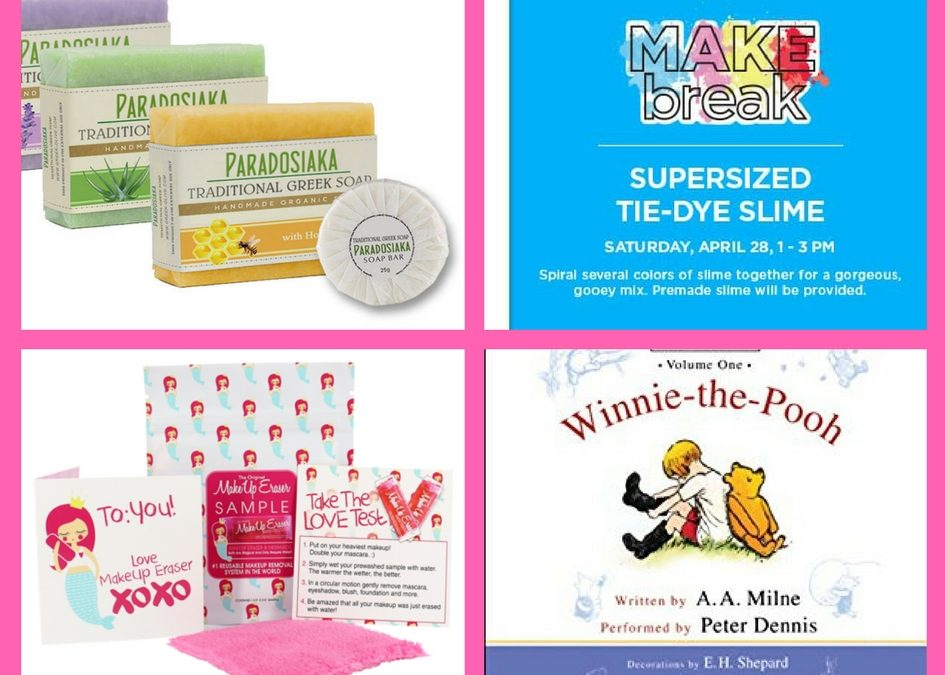 Make Sure You Snag These FOUR (4!) FREEbies: Greek Soap, Tie-Die Slime, Makeup Eraser and Winnie-the-Pooh Audiobook!