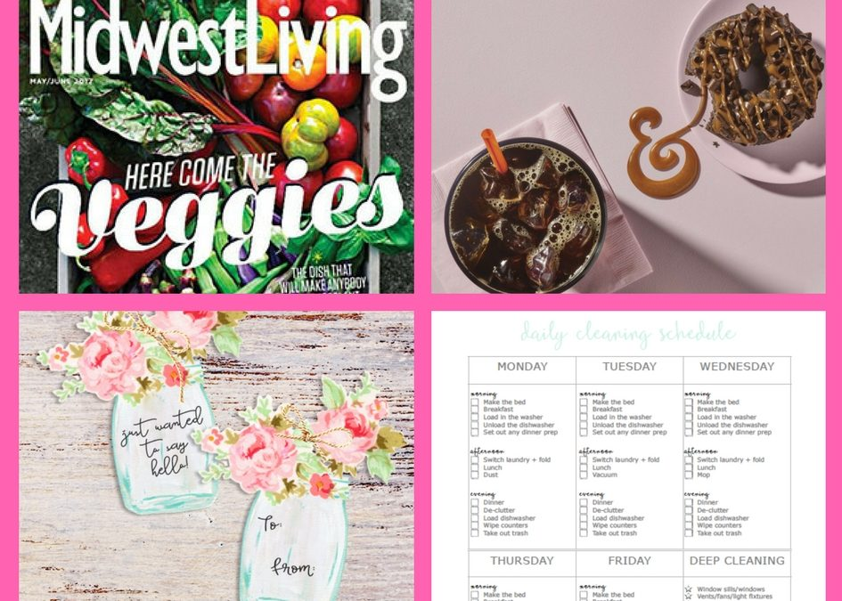 FOUR (4!) FREEbies: Annual Subscription to Midwest Living Magazine, Dunkin Donuts Coffee, Printable Mason Jar Gift Tags and Cleaning Checklist Printable!