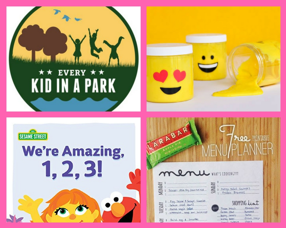 FOUR (4!) FREEbies: Annual Natural Park Pass for Fourth Graders, Michael's Slime Event, Sesame Street eBook and Menu Planning Printable!
