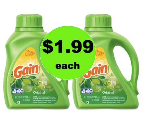 CHEAP LAUNDRY DETERGENT! Get Gain Liquid Detergent Only $1.99 at Winn Dixie! (4/21-4/22)