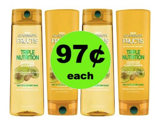 STOCK UP with 97¢ Garnier Fructis Hair Care at Walmart! (Ends 4/21)