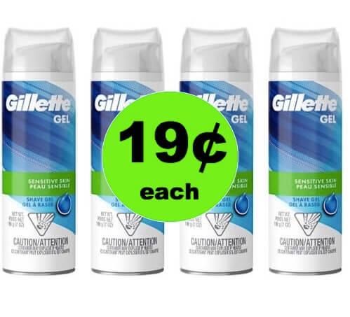 STOCK UP on 19¢ Gillette Shave Gel at Target! (Ends 4/7)