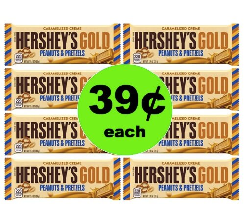 Score 39¢ Hershey's Gold Bar at Target (at Walmart too)! (Ends 6/2)