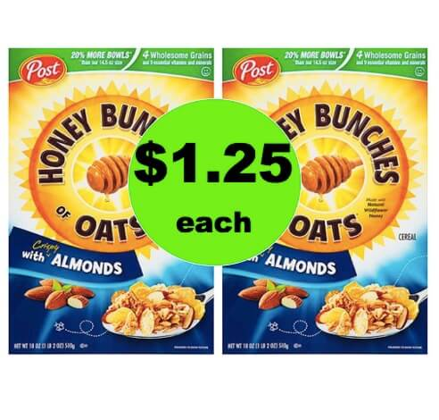 Enjoy Honey Bunches of Oats Cereal Only $1.25 Each at Winn Dixie! (4/21-4/22)