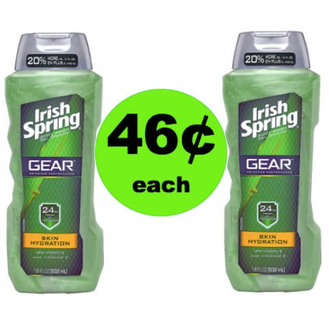 Get 46¢ Irish Spring Body Wash at Walgreens! (5/13-5/19)