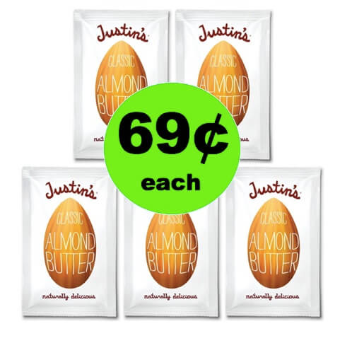 Pick Up 69¢ Justin's Almond Butter Squeeze Packs at Target (After Rebate)!