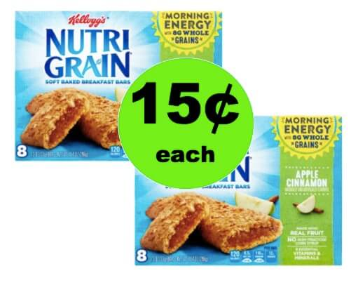 Snack On the Go with Kellogg's Nutri Grain Bars as Low as 15¢ per Box at Winn Dixie! (Ends 4/10)