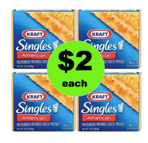 More Cheese Please! Pick Up $2 Kraft Cheese Singles at Winn Dixie This Weekend! (4/28 – 4/29)