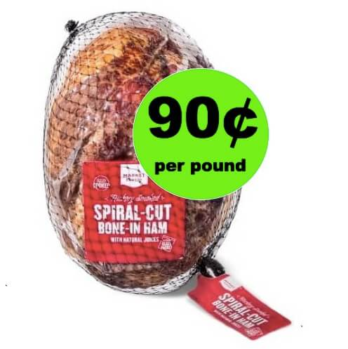 SCORE Market Pantry Ham Only 90¢ Per Pound at Target! (Ends 4/21)