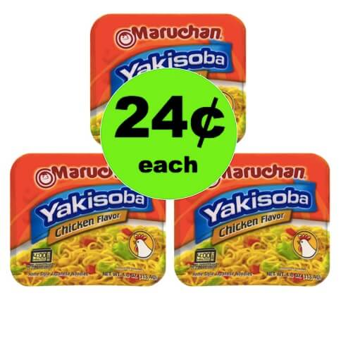 For a QUICK CHEAP Lunch, Pick Up 24¢ Maruchan Yakisoba Bowls at Walmart! (Ends 6/30)