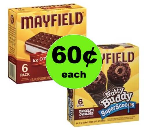 HOORAY for 60¢ Mayfield Ice Cream Novelties at Winn Dixie! (Ends 5/1)