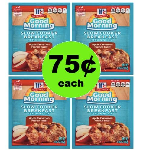 Easy Start to Your Day with 75¢ McCormick Slow Cooker Breakfast Mix at Walmart! (Ends 5/20)