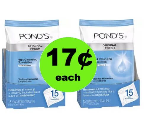 Clean Your Face with 17¢ Pond's Towelettes at Walgreens! (Ends 4/21)