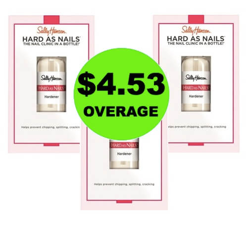 (Update: NLA) THREE (3!) FREEbies + $4.53 OVERAGE Sally Hansen Nail Hardener at Target! (Ends 4/16)