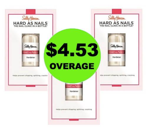 (Update: NLA) THREE (3!) FREEbies + $4.53 OVERAGE Sally Hansen Nail Hardener at Target! (Ends 4/16)