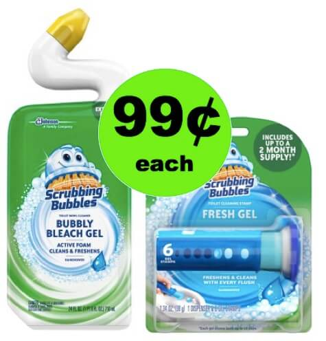 Make Your Bathroom Sparkle with 99¢ Scrubbing Bubbles Toilet Cleaning Products at Walmart!