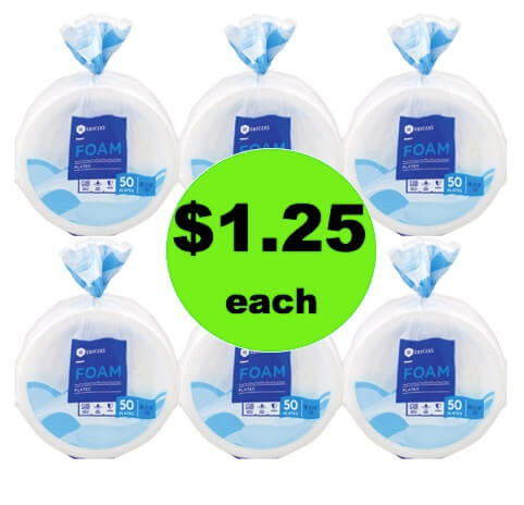 STOCK UP on SE Grocers Foam Plates Only $1.25 Each at Winn Dixie! (Ends 4/10)