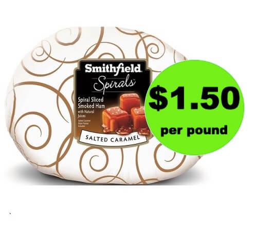 Pick Up Smithfield Salted Caramel Ham $1.50/lb at Target! (Ends 4/14)