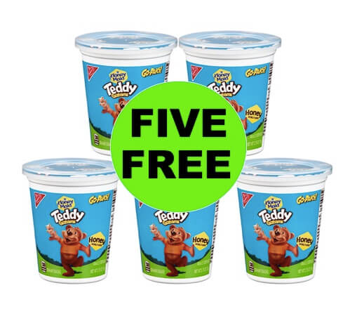 FIVE (5!) FREE Teddy Grahams Go-Paks at Target! (Ends 5/2)