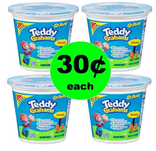 Snack Anytime with 30¢ Teddy Grahams Go-Paks at Target! (Ends 4/4)