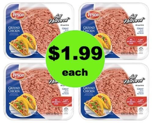 Get Tyson Ground Chicken $1.99 Pound at Target! (Ends 4/7)