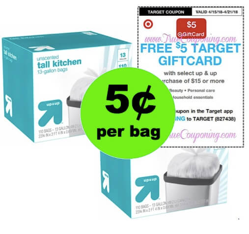 Score Up & Up Trash Bags as Low as 5¢ Per Bag at Target! (Ends 4/21)