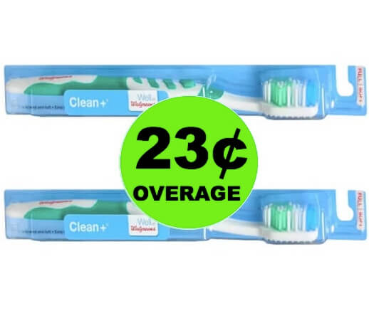 STOCK UP with 23¢ Overage on Well At Walgreens Toothbrushes! (Ends 5/5)
