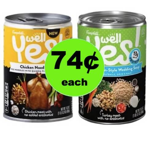 Pick Up 74¢ Campbell's Well Yes! Soup at Walgreens! (Ends 4/14)