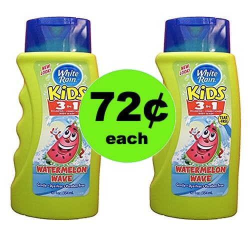 Pick Up 72¢ White Rain Kids 3in1 at Walmart!