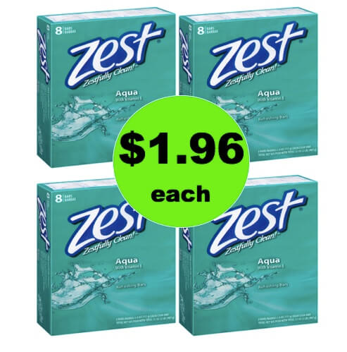 Wash Up with Zest Bar Soap Only 25¢ Per Bar at Walgreens! (Ends 5/5)