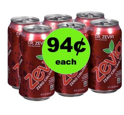 SCORE 94¢ Zevia No Sugar Soda 6-pk at Target (Reg. $5)! (Ends 5/5)